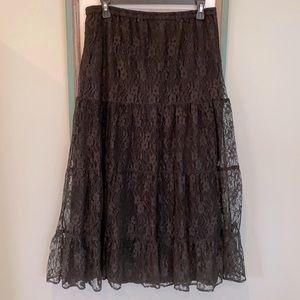 Vintage Y2K, Goth Style Black Lace Dress
